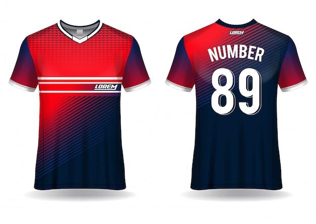 Modelo de esporte de camiseta de futebol