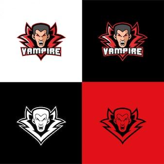 Modelo de esporte de logotipo de cabeça de vampiro