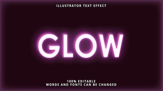Modelo de estilo de brilho de efeito de texto 3d