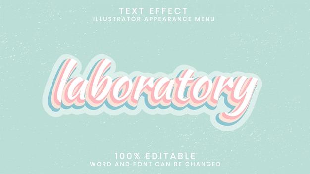 Modelo de estilo de efeito de texto editável em laboratório
