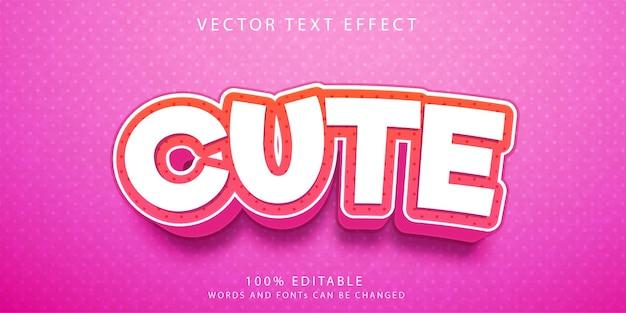 Modelo de estilo de efeitos de texto fofos