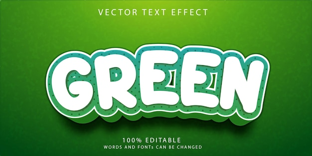 Modelo de estilo de efeitos de texto verde
