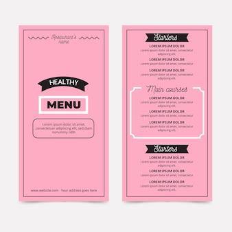 Modelo de estilo de menu de restaurante