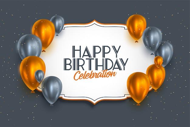 Modelo de estilo premium de celebração de feliz aniversário