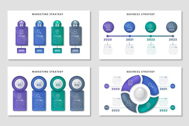 Modelo de estratégia de infográfico