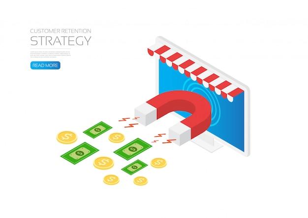 Modelo de estratégia de retenção de clientes