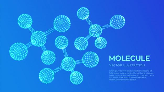 Modelo de estrutura da molécula