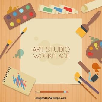 Modelo de estúdio de arte