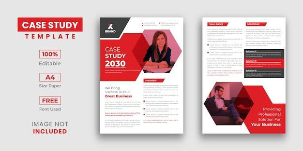 Modelo de estudo de caso com 2 páginas
