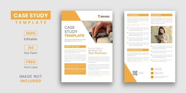 Modelo de estudo de caso de negócios