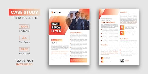 Modelo de estudo de caso profissional, 2 páginas