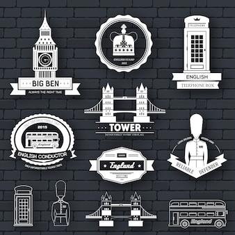 Modelo de etiqueta country england do elemento emblema para seu produto ou design