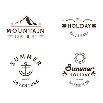 Modelo de etiqueta de emblemas de férias