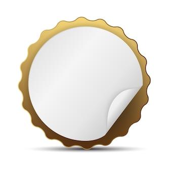 Modelo de etiqueta dourada