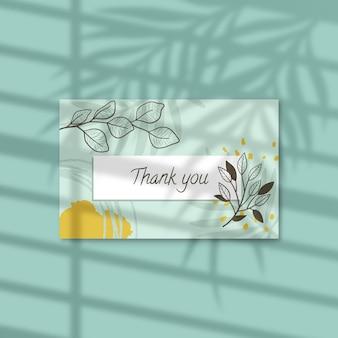 Modelo de etiqueta floral de agradecimento