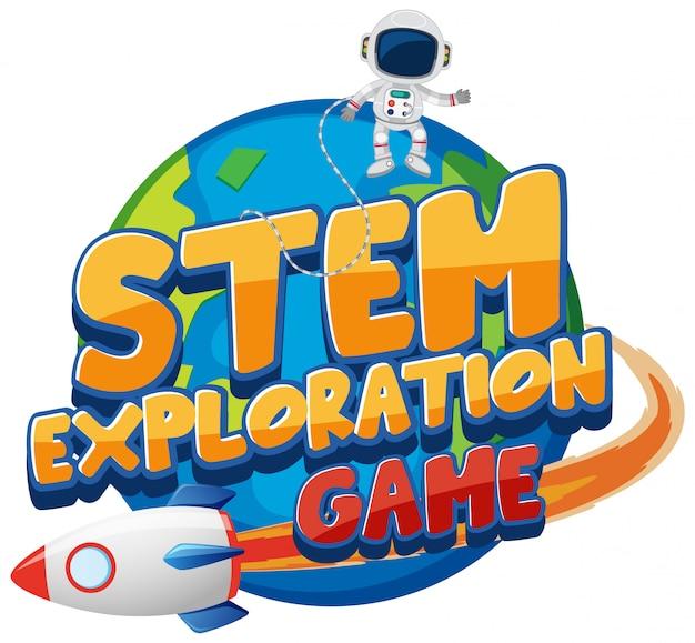 Modelo de etiqueta para o jogo de exploração de palavra stem