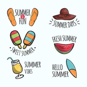 Modelo de etiquetas de verão