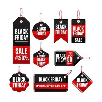 Modelo de etiquetas sexta-feira negra