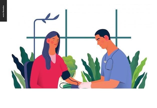 Modelo de exames médicos - teste de pressão arterial