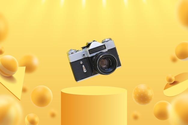 Modelo de exibição com câmera