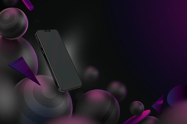 Modelo de exibição com smartphone