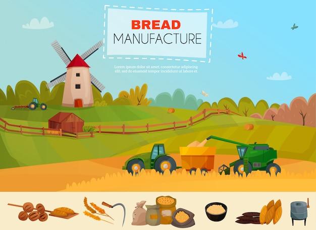 Modelo de fabricação de pão
