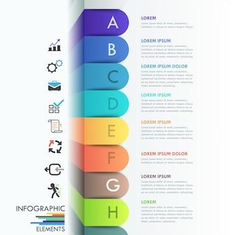 Modelo de faixa de opções de infográfico 3d
