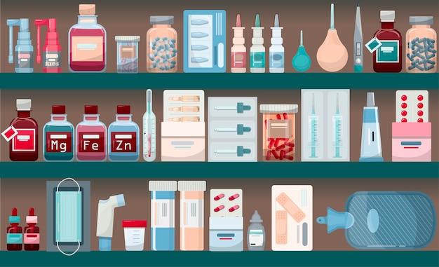 Modelo de farmácia de banner médica vetorial para hospitais, farmácias de publicidade, treinamento internacional ...