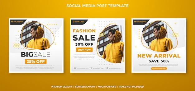 Modelo de feed de mídia social de venda de moda estilo premium