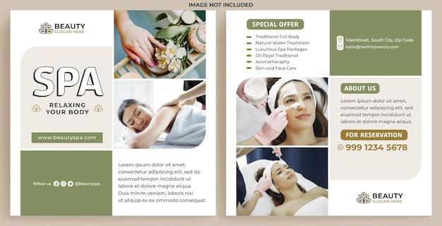 Modelo de feed de promoção de spa de beleza no instagram em estilo de design moderno