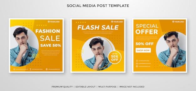 Modelo de feed do instagram de venda de moda estilo premium