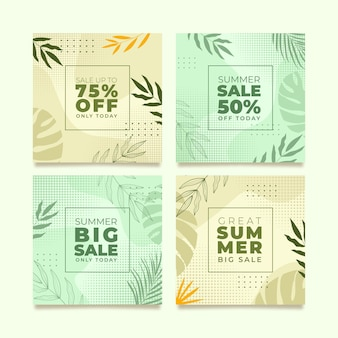 Modelo de feed do instagram para venda especial de verão