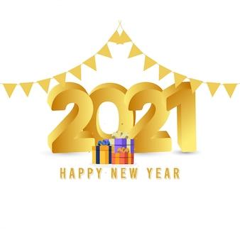 Modelo de feliz ano novo 2021