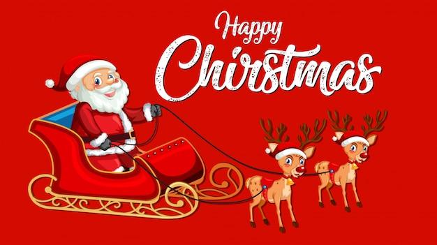 Modelo de feliz natal vermelho