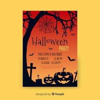 Modelo de festa de halloween plana