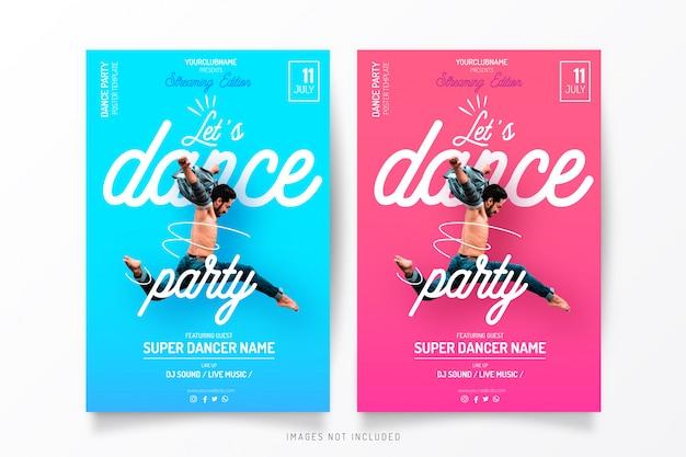 Modelo de festa de streaming de dança