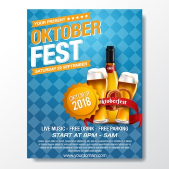 Modelo de festival de cerveja alemã oktoberfest