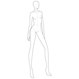 Modelo de figura de corpo de moda