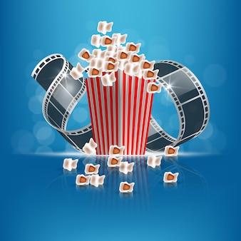 Modelo de filme abstrato. conceito de cinema. vetor eps10