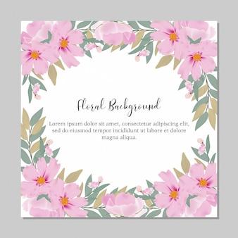 Modelo de finalidade multi frame aquarela floral