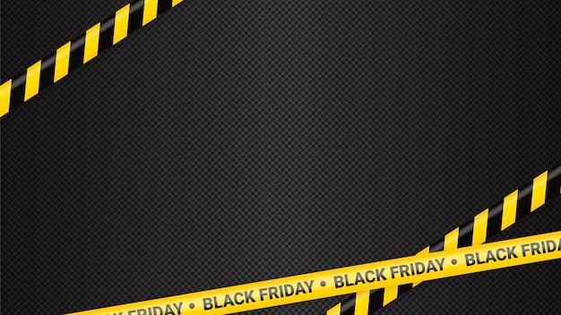 Modelo de fitas de advertência da black friday para venda da black friday