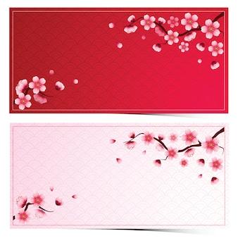 Modelo de flor de cerejeira