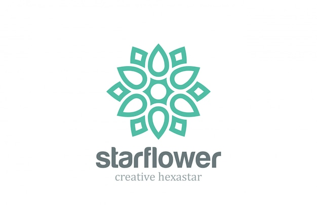 Modelo de flor estrela em abstrato linear