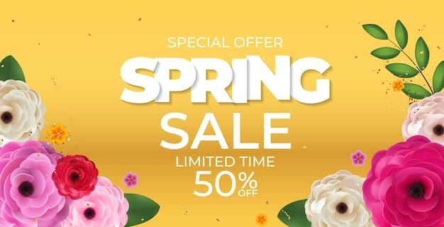 Modelo de flores naturais de venda amarelo primavera.
