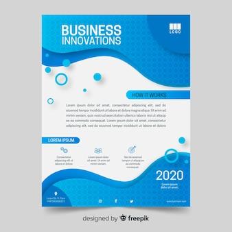 Modelo de fluido de panfleto de negócios abstratos