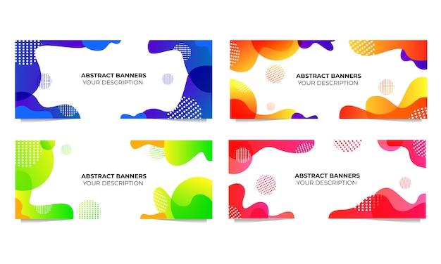 Modelo de fluido líquido de banners abstratos