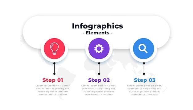 Modelo de fluxo de trabalho de número de opções de infográfico