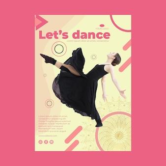Modelo de flyer para aula de dança a5 com foto