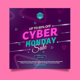 Modelo de flyer quadrado cyber monday