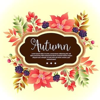 Modelo de folhagem jardim outono poinsétia